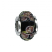 Marketplace 151381 Murano Glass Bead with Solid Sterling Silver Core Moress GL-32