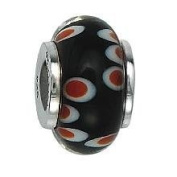 Marketplace 151388 Murano Glass Bead with Solid Sterling Silver Core Moress GL-39