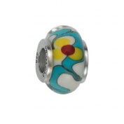 151385 Murano Glass Bead with Solid Sterling Silver Core. Weight- 3.00g