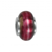 151386 Murano Glass Bead with Solid Sterling Silver Core. Weight- 3.00g