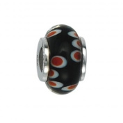 151388 Murano Glass Bead with Solid Sterling Silver Core. Weight- 3.00g
