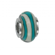 Feminine Jewellery 151378 Murano Glass Bead with Solid Sterling Silver Core. Weight- 3.00g
