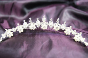 Beautiful Bridal Wedding Tiara Comb with Crystal and Pearls C12371