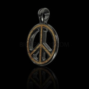Bico Australia Pendant Jewellery (Ew55 Black) - Peace Preacher, Wood Insert - War Is Not in My Nature