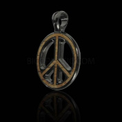 Bico Australia Pendant Jewellery (Ew55 Black) - Peace Preacher, Wood Insert - War Is Not in My Nature