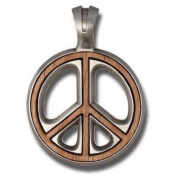 Bico Australia Pendant Jewellery (Ew55) - Peace Preacher, Wood Insert - War Is Not in My Nature