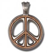 Bico Australia Pendant Jewellery (Ew55) - Peace Preacher, Wood Insert - War Is Not in My Nature