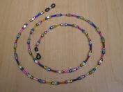 Confetti Bugle Czech Glass Bead Mix Eyeglass Chain Holder