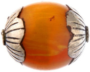 Amber Dust Beads (Price Per Pair) - Sterling Silver