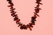 Cognac Baltic Amber Necklace 17.5'