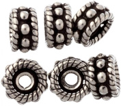 Sterling Knotted Rope Beads (Price Per Six Pices) - Sterling Silver