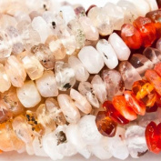 3mm Mexican Fire Opal Faceted Chip Beads, 14.5 inch