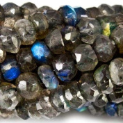 Labradorite Beads Faceted 4mm Rondelle, 151 pieces