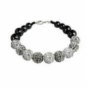 Twinkle Fashion Accessories Ocean Waves Eleven Crystal Braided Bracelet