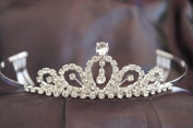 New Bridal Wedding Tiara Crown with Crystal Party Accessories DH1072