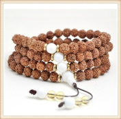 The Art of CureTM (70cm ) Healing Jewellery & Mala meditation beads (108 beads on a strand) Healing Rudraksha beads