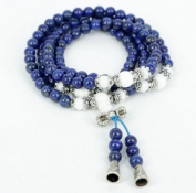 The Art of CureTM (70cm ) Healing Jewellery & Mala meditation beads (108 beads on a strand) Lapis & Tridacna