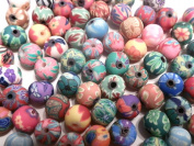 200 Fimo Polymer Clay 8mmx9mm Rondell Donut Shaped Beads Assorted Colours Mixed Lot By Andrea's Beads & Crafts