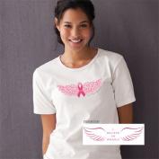 Alexa's Angels Ribbon Wing - Keep an Angel in Your Corner White T-shirt Medium