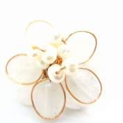 Fair Trade Jewellery - Blossom Flower Ring White
