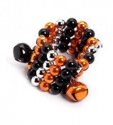Demdaco Black and Orange Multi Strand Bracelet