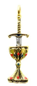 Knights Templar Blade and Chalice Talisman for Perfect Love and Perfect Trust Pendant Amulet