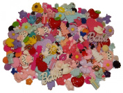 Tacie's Boutique~(100) Mix Lot of Flatback Resins-make hair clips, bows, etc!