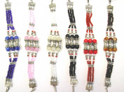 BEADED THREE STRAND CHARM BRACELETS