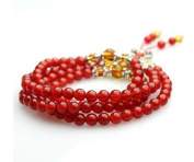 The Art of CureTM (80cm ) Healing Jewellery & Mala meditation beads (108 beads on a strand) Red Agate
