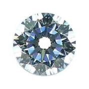 White Round CZ Fancy Cut Loose Unset Gemstone Heart and Arrow Cut 10mm