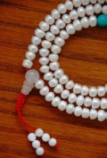 Tibetan Pearl Mala 108 Beads for Meditation GMS-45