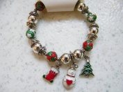 Holiday Wishes Stretch Winter Charm Bracelet