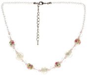 "Lova Jewellery ""Delicate Roses"" Hand-blown Venetian Murano Glass Necklace"