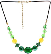 "Lova Jewellery ""Emerald Paradise"" Hand-blown Venetian Murano Glass Necklace"