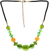 "Lova Jewellery ""Green Paradise"" Hand-Blown Venetian Murano Glass Necklace"