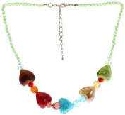 "Lova Jewellery ""Lovely Hearts"" Hand-Blown Venetian Murano Glass Necklace"