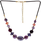 "Lova Jewellery ""Pure Violet"" Hand-blown Venetian Murano Glass Necklace"