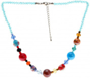"Lova Jewellery ""Sugar Girl"" Hand-blown Venetian Murano Glass Necklace"