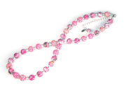 Viva Beads Pink Paradise Necklace |8mm Crystal Strand | Non-Stretch | - Handmade Clay Beads Jewellery 05605022