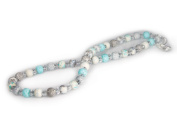 Viva Beads White Sand Necklace |8mm Crystal Strand | Non-Stretch | - Handmade Clay Beads Jewellery 05605023