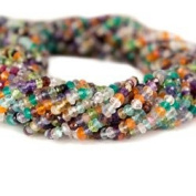 Multi-gemstone Faceted Rondelle