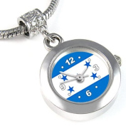 Honduras Country Flag Bead Watch for Necklace or Bracelet