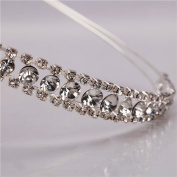 Shining Decent Two Rows Rhinestone Crown Headband Wedding Princess Headband