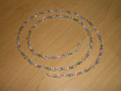 . Crystal AB Czech Colour-Lined Glass Bead Mix Eyeglass Chain Holder