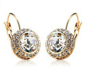Silver & Clear Crystal Princess Kate Style Earrings