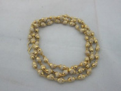 Tulsi Full Mala Yoga Meditation Japamala Golden Capped Beads Peace Getting Rid of Tensions