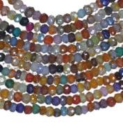 "CZ Multi Colour Rondelle Beads Tiny 2.8mm-3.2mm 15"""