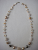 Fresh Water Pearls Necklace Handmade Jewellery 48cm