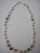 Fresh Water Pearls Necklace Handmade Jewellery 48cm