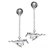 Ford Mustang Silver One Pair Earring with. Elements